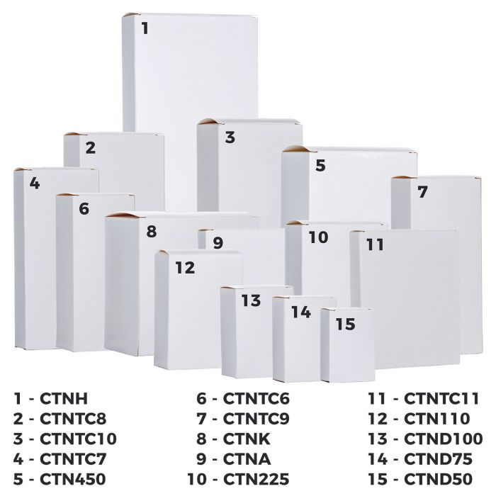 Tablet Cartons - Plain White