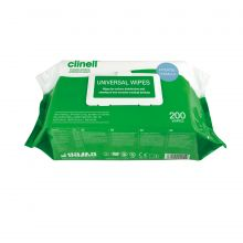 CLINELL UNIVERSAL SANITISING WIPES - (Pack 200)