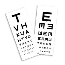 6M TEST TYPE CHART WITH PATIENT HAND CARD - (Single)